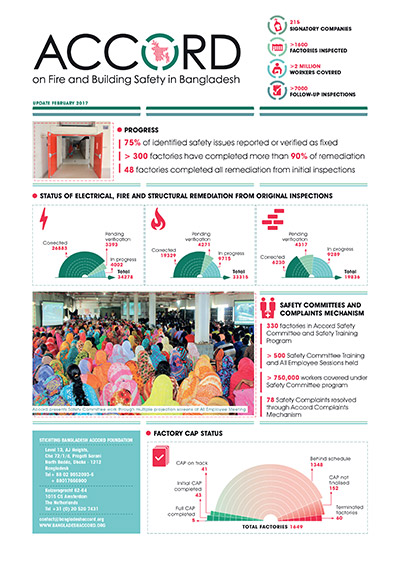 Accord on Fire and Building Safety in Bangladesh, February 2017