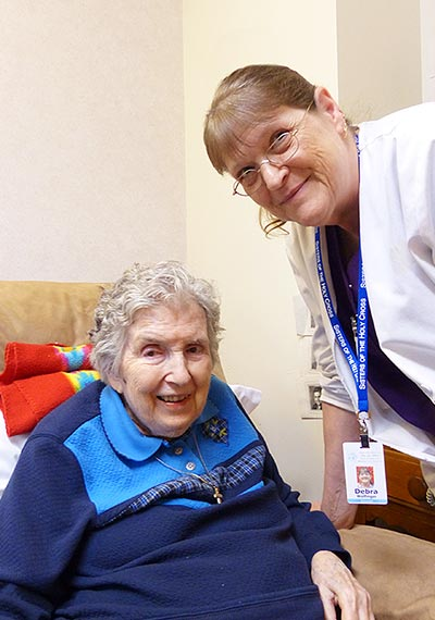 Employee Deb takes time to spend with Sister Anna Mae