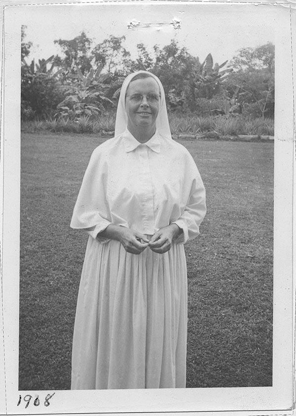 Snapshot of Sister M. Francelia (Magee) taken Bangladesh, 1968
