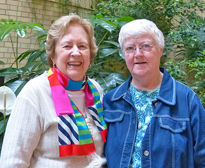 Judy Plummer and Margaret Mary Weber, CSC